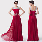 Lady New Red Formal Long Evening Ball Gown Party Prom Cocktail Bridesmaid Dress