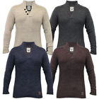 Mens Brave Soul Jumper Wool Mix Sweater Knitted Pullover Funnel Neck Top Casual