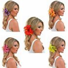 Flower Hairclip Hawaiian Hibiscus Flower Various Colours  Hair Clip Fancy Dress
