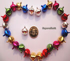 100Pcs Multi-Color Iron Loose Bead Christmas Jingle Bells Pendants Charms 8x6 mm