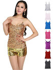 Women's Bling Bling Sequins Spaghetti Strap Tank Top Shirt Costumes Performance