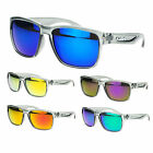 Kush Color Mirror Lens Plastic Sporty Rectangular Keyhole Biker Sunglasses