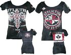 Affliction Womens Georges St Pierre GSP Rush Union Reversible T-shirt