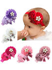 Cut Baby Kids Girls Elastic Lace Flower Sequins Hairband Headband Hair Head Band