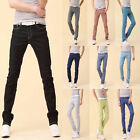 Men Stretchy Casual Candy Color Wild Pencil Pants Skinny Jeans Trousers Slacks