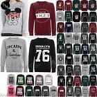 Womans Ladies Micky Dope Vogue Oversized Long Sleeves Jumpers Sweatshirts Tops