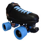 Riedell R3 Flat Out Quad Roller Derby Speed Skates Pink Blue Green Yellow Black