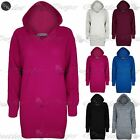 Womens Ladies Plain Chunky Knit Oversized Baggy Hoodie Hooded Tunic Jumper Dress