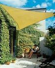 3.6M TRIANGLE SUN SHADE SAIL CANOPY GARDEN PATIO DECKING AWNING INC ROPES