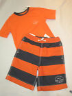 Boys Gap Kids Orange Swim Trunks Shorts & Rashguard Top Set XS, S, M, L, XL, XXL