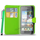 Huawei Ascend Y550  PU Leather Wallet Case i Big Stylus Pen & Screen Protector