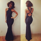 HOT Women Sleeveless Slim Ball Bodycon Cocktail Maxi Evening Party Long Dress UK