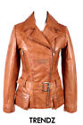 Ladies ORCHID TAN (2812) New Military Style Real Soft Lambskin Leather Jacket