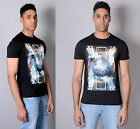Mens Designer Voi Jeans Casual T-Shirt Graphic Print Crew Neck Tee Top Optic T