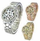 AN London Designer Animal Print Dial and Metal Band Ladies Watch with Gift Box