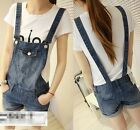 Lovely Girl Washed Jeans Denim Pants Casual Jumpsuit Rompers Hole Overall Shorts