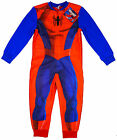 Boy's Official SPIDERMAN All in One Zip Fleece Romper Sleepsuit 3-8 Years NEW