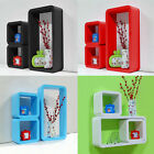 Set Of 3 Retro Wall Square Floating Cube Wall Storage Shelves Shelf Cubes - NEW
