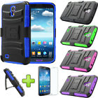 Holster Belt Clip Defender Stand Hybrid Case Cover For Samsung Galaxy Mega 6.3