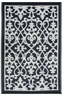 Fab Rugs Venice Black  Indoor/Outdoor Poly Modern Floor Rug Picnic/Camping Black