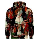 Alice in Wonderland Sublimated Sublimation Zipper Hoodie S,M,L,XL,2XL,3XL