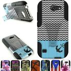 For Huawei AT&T Tribute / Fusion 3 Case Hybrid Design Heavy Duty Stand Cover