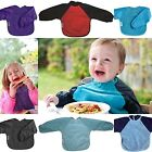 Silly Billyz Baby Long Sleeve Feeding Bib/Apron Snuggleneck Red Navy 6-24 Months