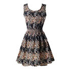 S-XXL Women Casual Summer Beach Chiffon Slim Sleeveless Vest Mini Dress Sundress