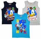 Boy's Sonic the Hedgehog Jet Shadow Eggman Vest Top 3-8 Years NEW