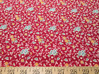 """Dan River Cotton Quilting Fabric - Red or Blue Floral - 44"""" Wide"""