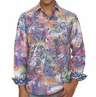 "Robert Graham Limited Edition ""Laser Art"" Shirt Swarovski Crystal Buttons L NWT"