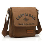 Quality Men's Small Canvas Messenger Single Shoulder Hiking Casual Everyday Bag