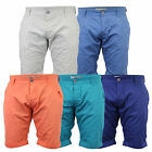 Mens Chino Shorts Smith & Jones Knee Length Half Pants Cotton Roll Up Summer