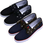 Polo Ralph Lauren Casual Boat Shoes Rylander Mens Canvas Leather Uppers Sneakers