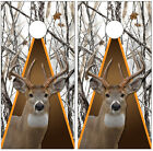 Whitetail Buck Deer Winter Snowstorm Camouflage Cornhole Board Decal Wrap Wraps