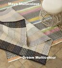 Fab Rugs Dream Multicolour Cotton Recycled Indoor Modern Floor Rug Many Sizes