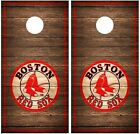 Boston Red Sox Vintage Wood Cornhole Board Decal Wrap Wraps (brown) on Ebay