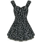 Ladies New Hearts & Roses London Black Butterfly Flare 50s Prom Party Mini Dress
