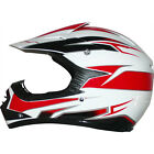 LEO-X16 Kids Child Junior Off Road MX Helmet Motocross Motorbike Red/White