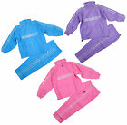 Girls Sport Logo Zip Front Microfibre Fashion Tracksuit Set 5-16 Years NEW