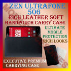 RICH LEATHER SOFT CASE for ZEN ULTRAFONE 506 MOBILE HANDPOUCH COVER POUCH HOLDER