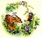 A01 ~ Woodland Babies Ceramic Decals, 5 sizes to choose from, Deer, Rabbit, Owl  image