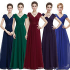 Ever Pretty Long Bridesmaid Evening Dress V-neck Cocktail Prom  Ball Gowns 08467