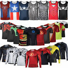 Men Superhero T Shirt Compression Under Base Layer Running Cycling Vest Tank Top
