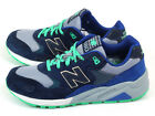 New Balance MRT580OV D Navy & Green & Blue-Grey Lifestyle Suede Casual Shoes NB
