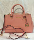 NWT Michael Michael Kors SMALL SUTTON SAFFIANO LEATHER SATCHEL Pale Pink Blue