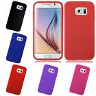 For Samsung Galaxy S6 Solid TPU Flexible Gel Candy Cover Case
