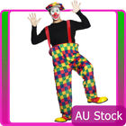 Licensed Hooped Crazy Funny Clown Costume Circus Fancy Dress Mens Outfit + Hat