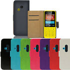 Flip Pu Leather Flip Case Wallet Cover For The Nokia 220