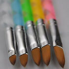 5Pcs New Acrylic 3D Painting Drawing UV Gel DIY Brush Pen Tool Nail Art Set